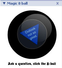 Magic 8-ball Outlook not good